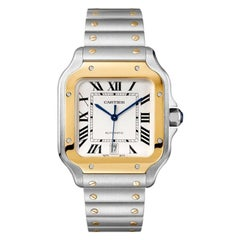 Cartier Santos Automatic Large Model Yellow Gold and Steel Watch W2SA0006