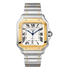 Cartier Santos Automatic Large Model Yellow Gold & Steel Watch W2SA0009