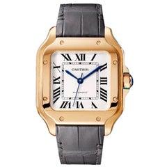 Cartier Santos Automatic Medium Model Rose Gold Watch WGSA0028