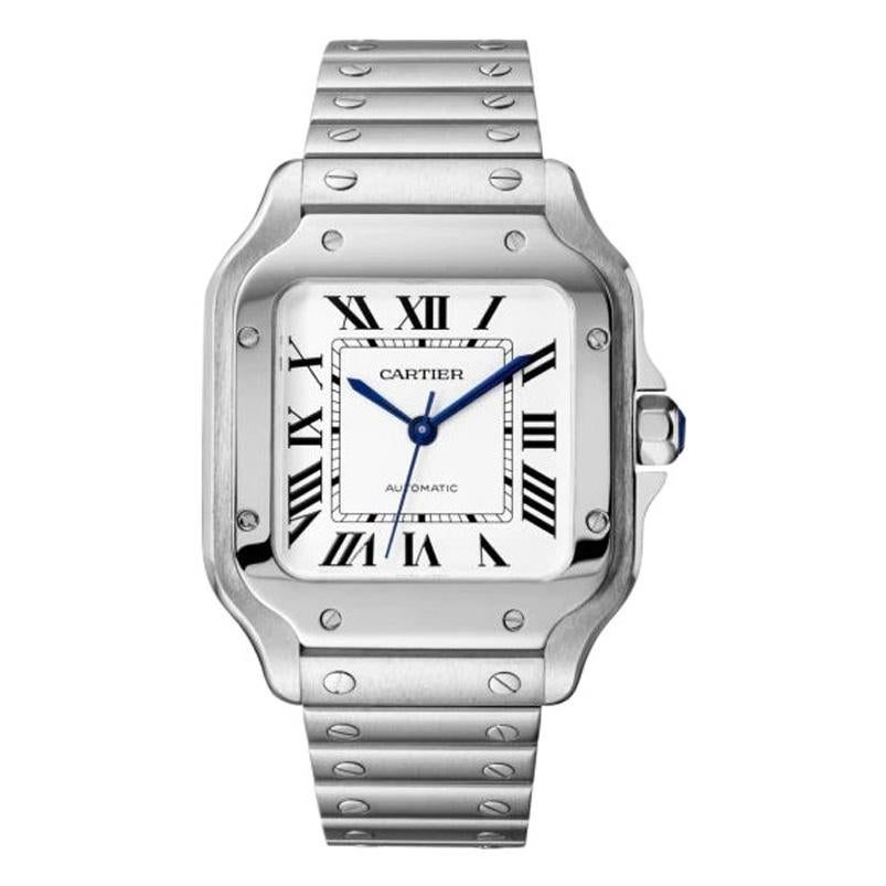 Cartier Santos Automatic Medium Model Steel Watch WSSA0029