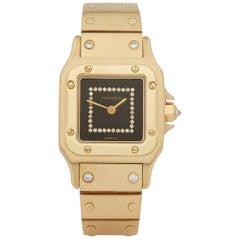 Cartier Santos Carree Diamond 18 Karat Yellow Gold
