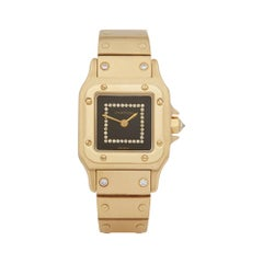 Cartier Santos Carree Diamond 18 Karat Yellow Gold