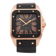 Cartier Santos de Cartier 100 XL 18 Karat Rose Gold W20124U2 or 2792 Wristwatch