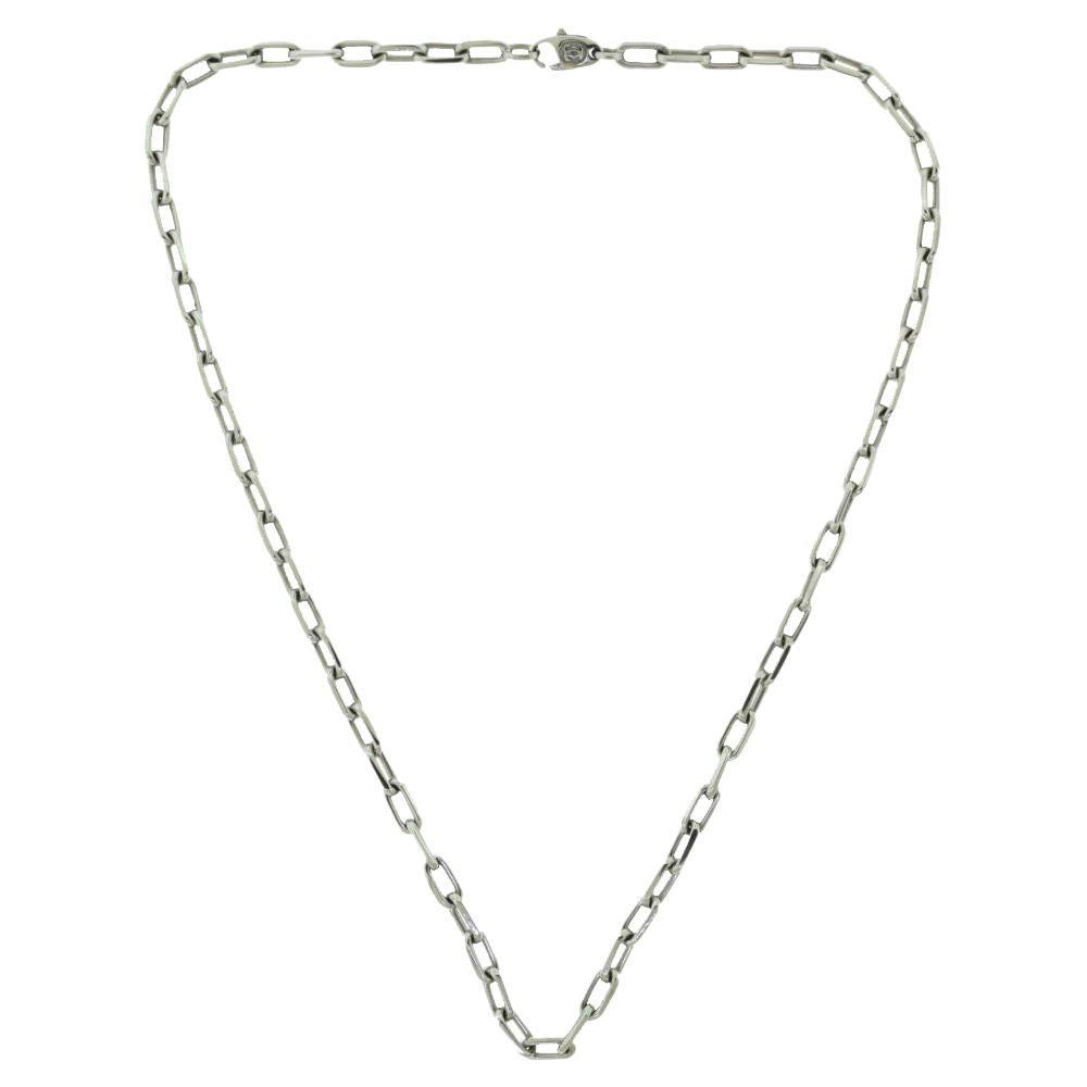 Cartier Santos de Cartier 18 Karat White Gold Chain Necklace
