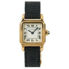 Cartier Santos de Cartier 7809, Gold Dial, Certified and Warranty