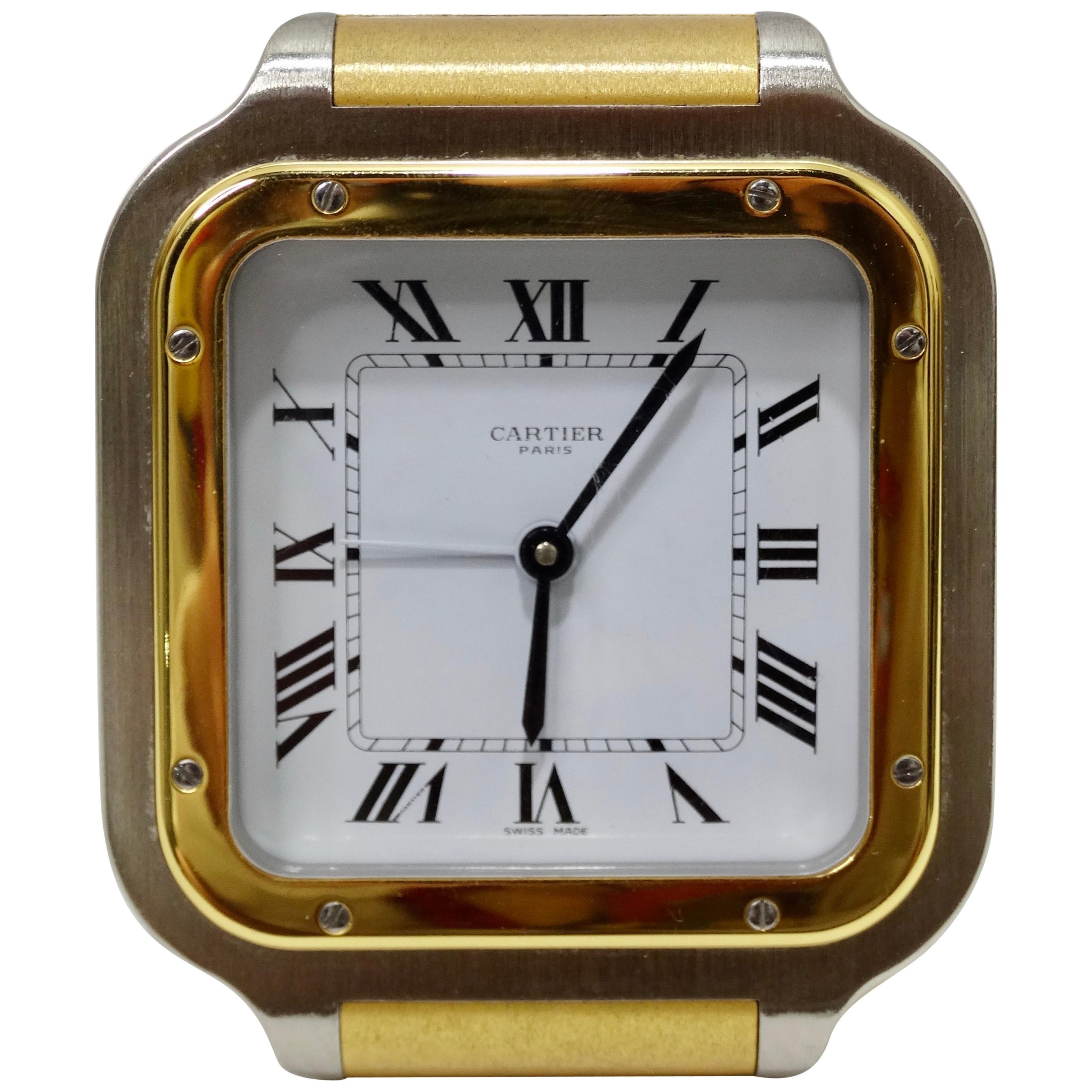 Cartier Santos de Cartier Alarm Clock