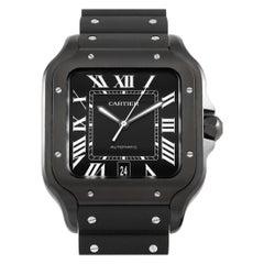Cartier Santos de Cartier Large All Black Automatic Watch WSSA0039