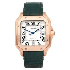 Cartier Santos De Cartier WGSA0011 or 4071 Men's Rose Gold Watch