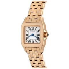 Cartier Santos DeMoiselle 18 Karat Rose Gold Model W25077X9 Watch