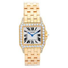 Cartier Santos Demoiselle 18 Karat Yellow Gold Midsize Watch WF9002Y7