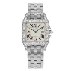 Cartier Santos Demoiselle 18K Gold Factory Diamonds Quartz Ladies Watch WF9004Y8