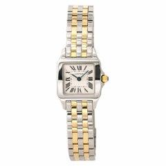 Cartier Santos Demoiselle 2698 W25066Z6 Women's Quartz Watch 18 Karat Two-Tone