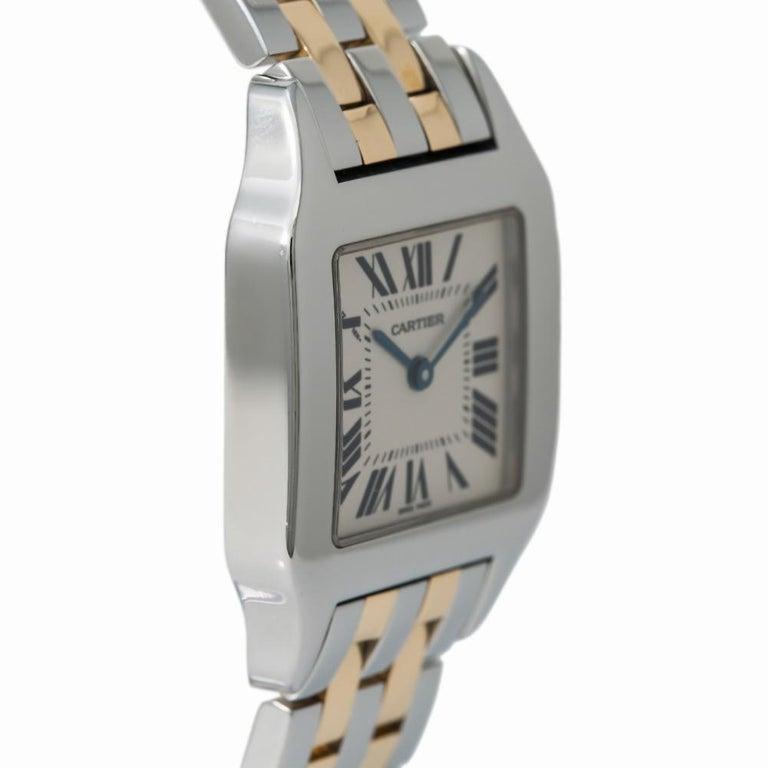 Modern Cartier Santos Demoiselle 2701 W25065Z5 Womens Two-Tone Quartz Watch For Sale