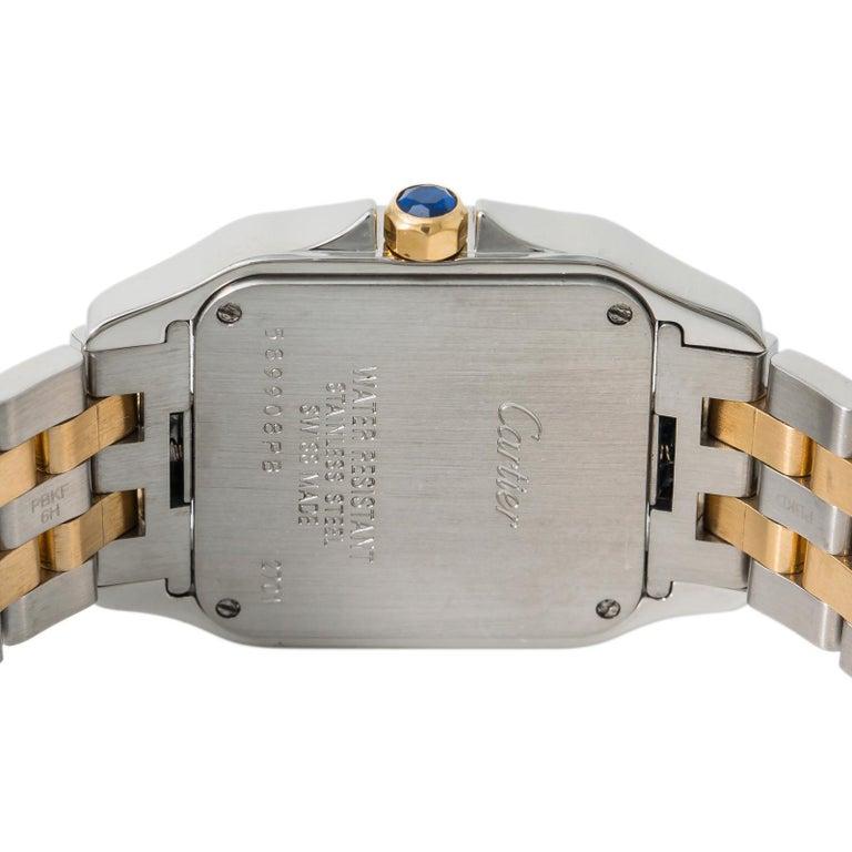 Cartier Santos Demoiselle 2701 W25065Z5 Womens Two-Tone Quartz Watch In Excellent Condition For Sale In Miami, FL