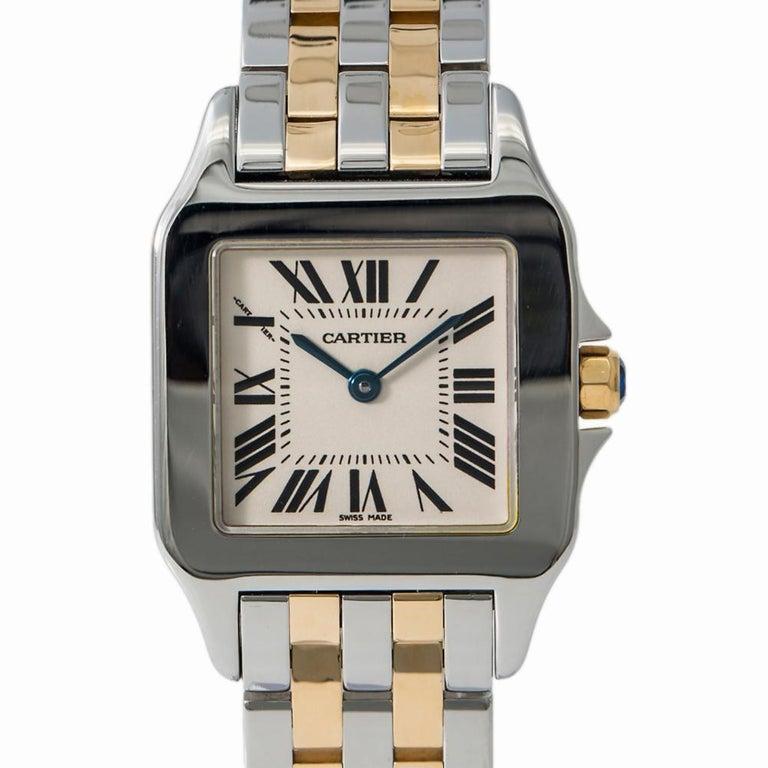 Women's Cartier Santos Demoiselle 2701 W25065Z5 Womens Two-Tone Quartz Watch For Sale