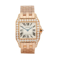 Cartier Santos Demoiselle Diamond 18 Karat Rose Gold WF9007Z8