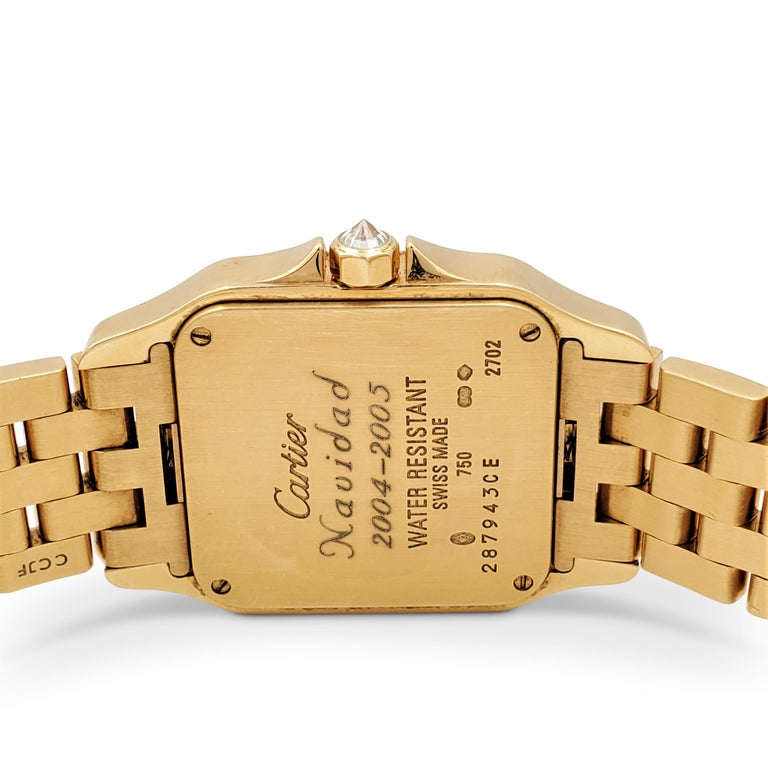 Cartier Santos Demoiselle Gold and Diamond Ladies Watch In Excellent Condition For Sale In New York, NY