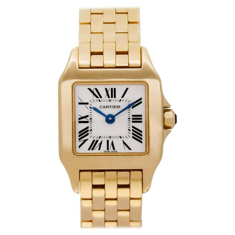 Cartier Santos Demoiselle Gold Watch Certified Preowned In Good Condition For Sale In Feasterville, PA