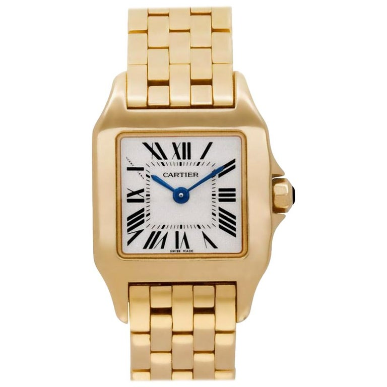 Cartier Santos Demoiselle Gold Watch Certified Preowned For Sale