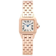 Cartier Santos Demoiselle Mini 18 Karat Rose Gold Women's W25077X9 or 2855