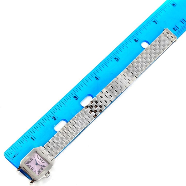 Cartier Santos Demoiselle Purple Dial Small Ladies Watch W2510002 For Sale 7