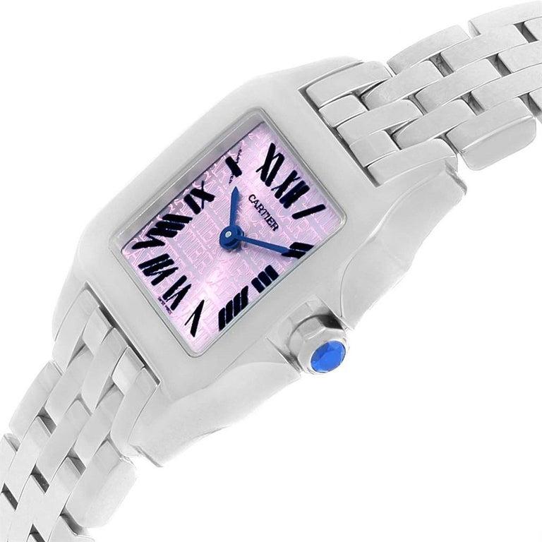 Women's Cartier Santos Demoiselle Purple Dial Small Ladies Watch W2510002 For Sale