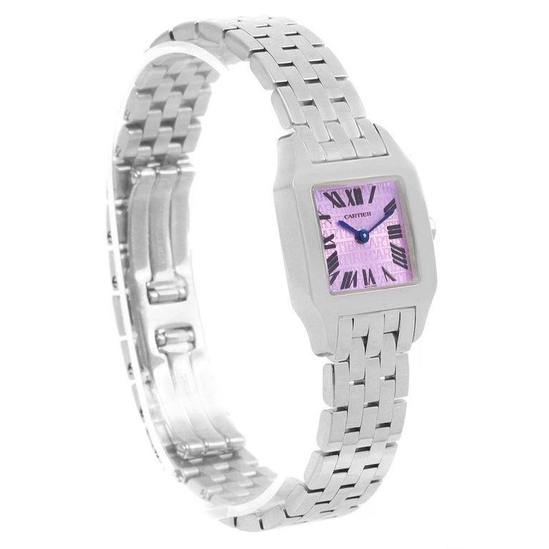 Cartier Santos Demoiselle Purple Dial Small Ladies Watch W2510002 For Sale 2