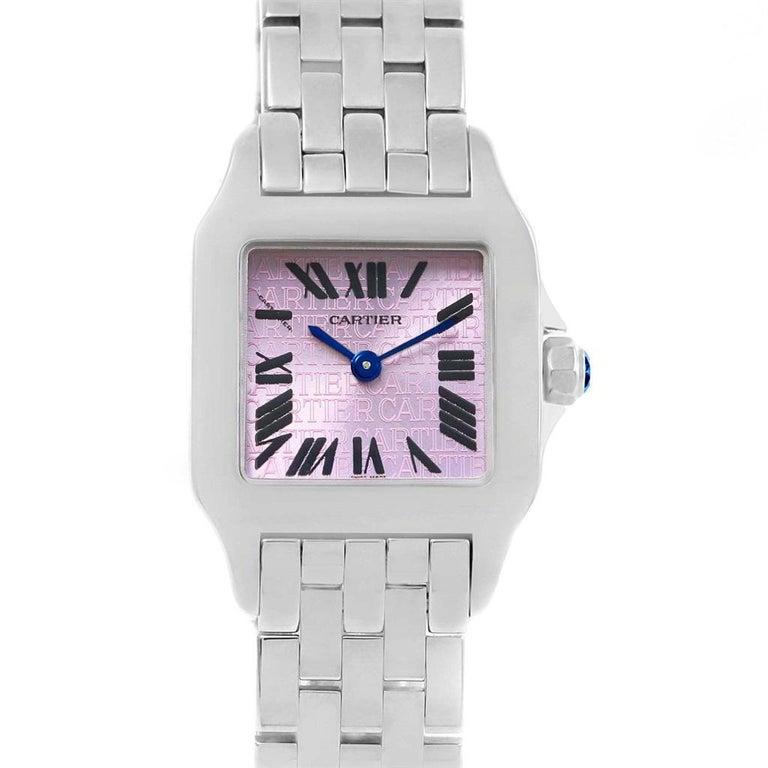 Cartier Santos Demoiselle Purple Dial Small Ladies Watch W2510002 For Sale