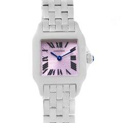Cartier Santos Demoiselle Purple Dial Steel Ladies Watch W2510002