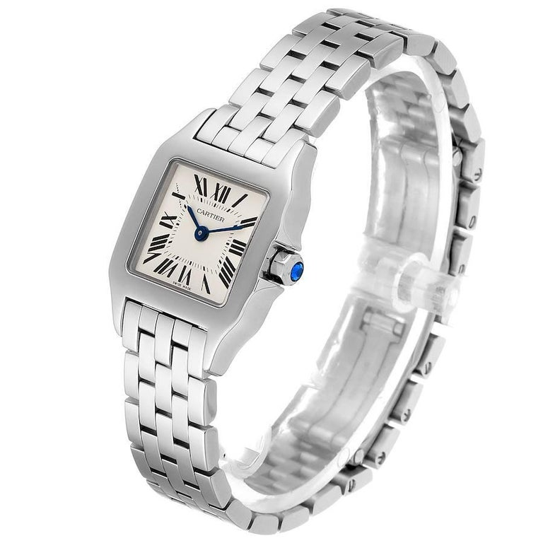 Women's Cartier Santos Demoiselle Stainless Steel Ladies Watch W25064Z5 Box Papers For Sale