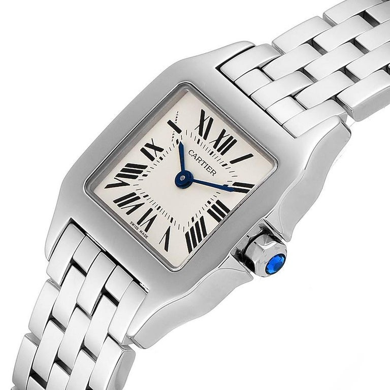 Cartier Santos Demoiselle Stainless Steel Ladies Watch W25064Z5 Box Papers For Sale 1
