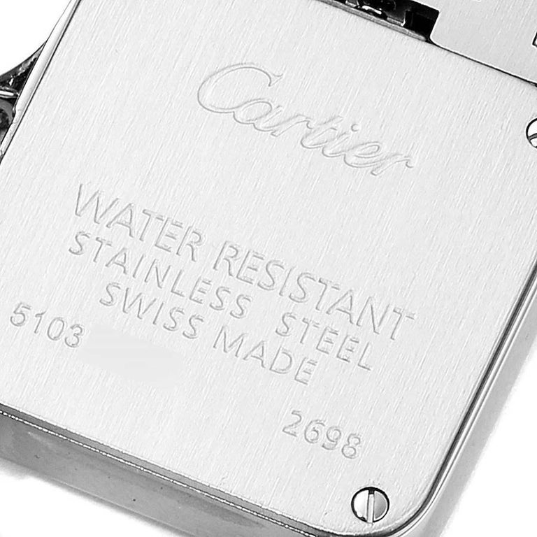 Cartier Santos Demoiselle Stainless Steel Ladies Watch W25064Z5 Box Papers For Sale 2