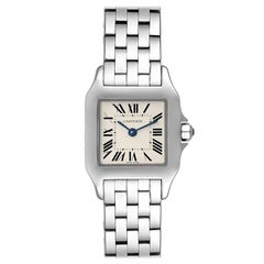 Cartier Santos Demoiselle Stainless Steel Ladies Watch W25064Z5 Box Papers