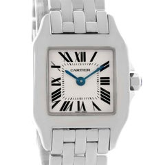 Cartier Santos Demoiselle Steel Silver Dial Small Watch W25064Z5