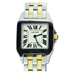 Cartier Santos Demoiselle Two-Tone Unisex Wristwatch Certified with Box & Papers