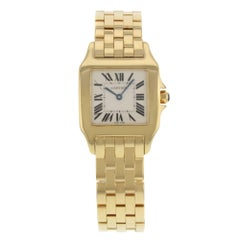 Cartier Ladies Yellow Gold Santos Demoiselle Quartz Wristwatch Ref W25062X9