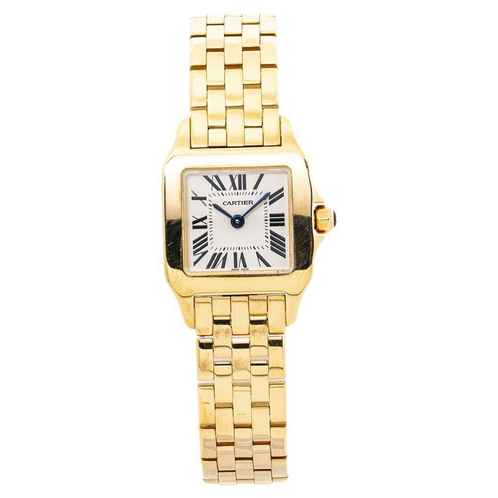 Cartier Santos Demoiselle W25063X9 2699 18K Yellow Gold Quartz Ladies Watch
