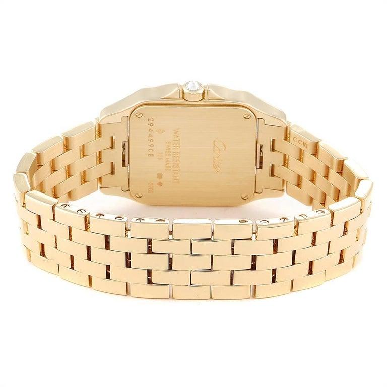 Cartier Santos Demoiselle Yellow Gold Diamond Midsize Ladies Watch WF9002Y7 For Sale 3