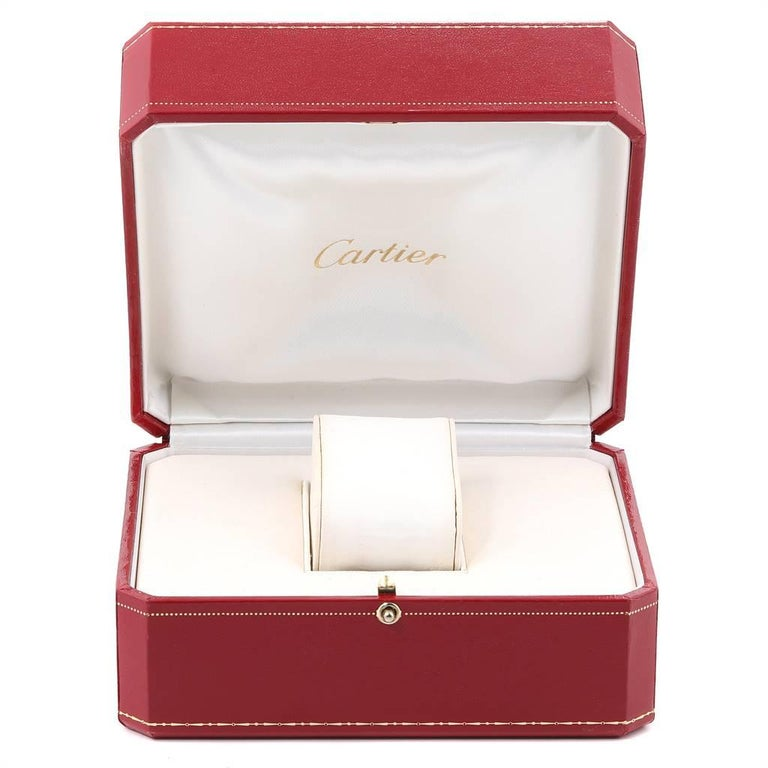 Cartier Santos Demoiselle Yellow Gold Diamond Midsize Ladies Watch WF9002Y7 For Sale 5