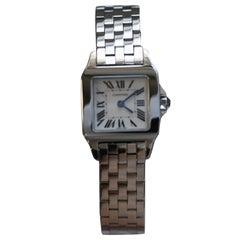 Cartier Santos Demosille W25064Z5 Stainless Steel Ladies