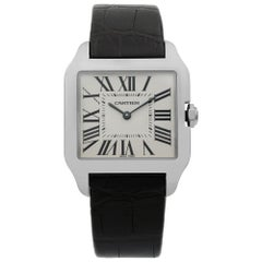 Cartier Santos Dumont 18 Karat Gold Silver Dial Quartz Unisex Watch W2009451