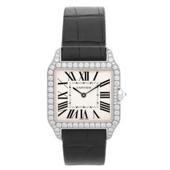 Cartier Santos Dumont 18 Karat Gold and Diamond Men's/Ladies Watch WH100251