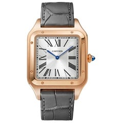 Cartier Santos-Dumont Hand-Wound Mechanical Movement Pink Gold Watch WGSA0032