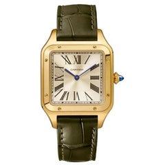 Cartier Santos-Dumont Hand-Wound Mechanical Movement Yellow Gold Watch WGSA0027