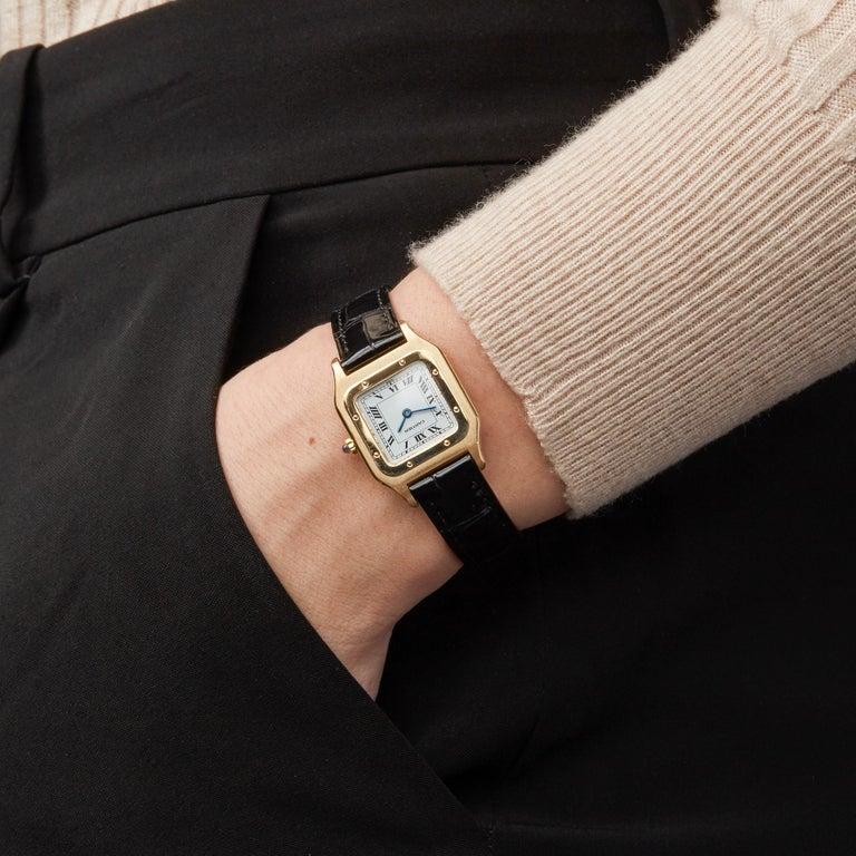 Cartier Santos Dumont Paris 18 Karat Yellow Gold For Sale 4