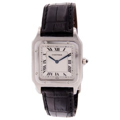 Cartier Santos Dumont Paris Platinum 1575 Watch