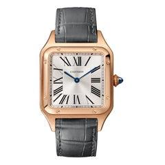 Cartier Santos-Dumont Quartz Movement Large Model Pink Gold Watch WGSA0021