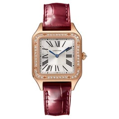 Cartier Santos-Dumont Quartz Small Model Pink Gold and Diamonds Watch WJSA0017