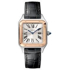 Cartier Santos-Dumont Quartz Small Model Pink Gold & Steel Watch W2SA0012
