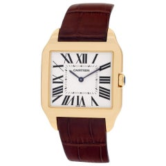 Cartier Santos Dumont W2008751 18 Karat Yellow Gold Cream Dial Manual Watch